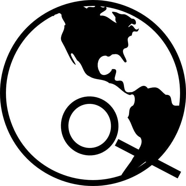 Simple black and white. Globe clipart line