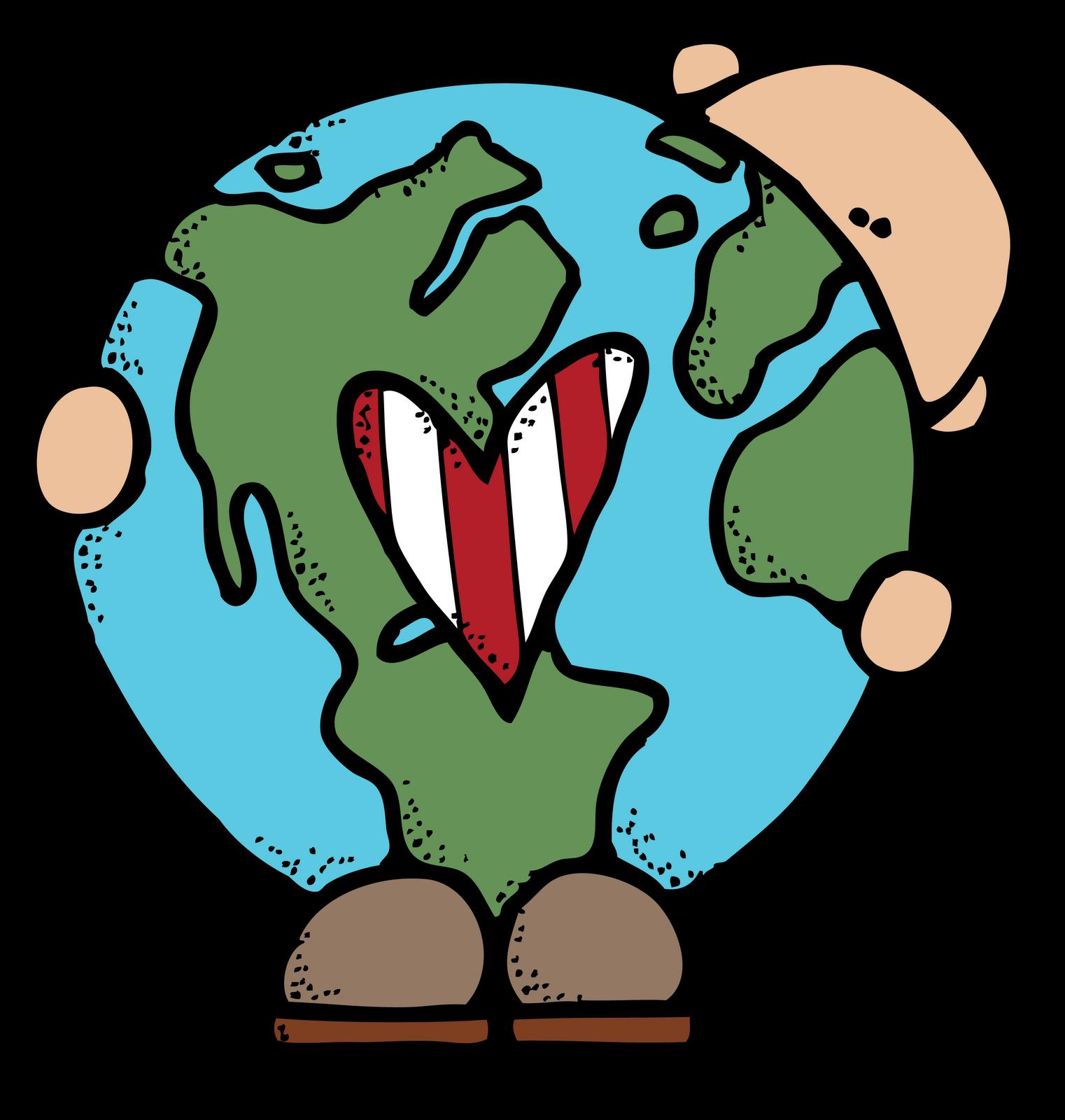 Geography clipart school. Melonheadz free printable earth