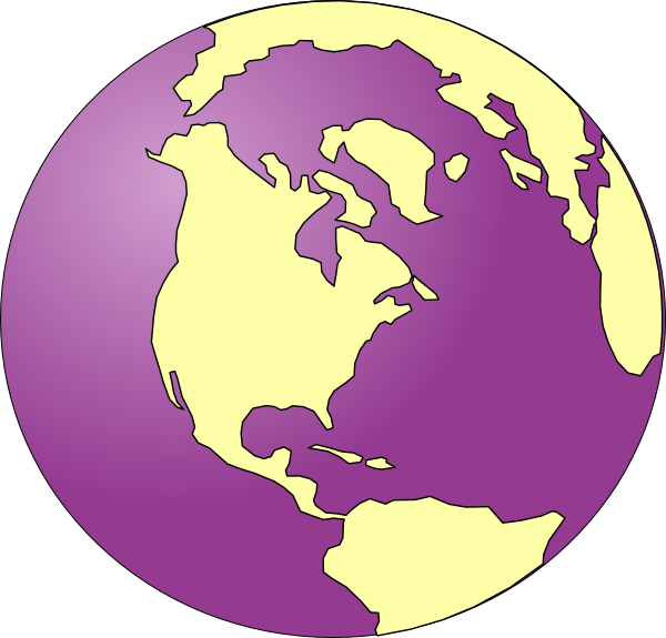 Clipart earth purple. Tinted clip art at