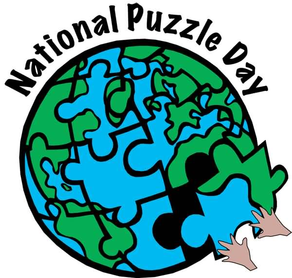 Earth clipart puzzle. National day globe
