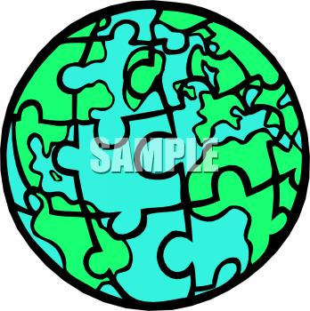 Globe clip art panda. Clipart earth puzzle
