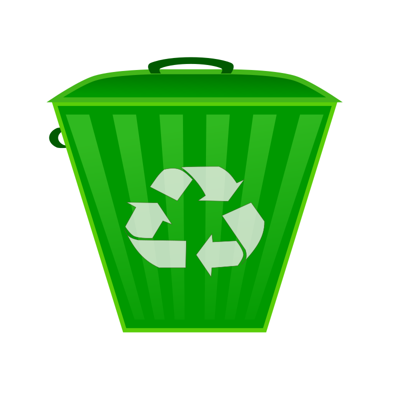 Clipart earth recycling. Recycle bin medium image