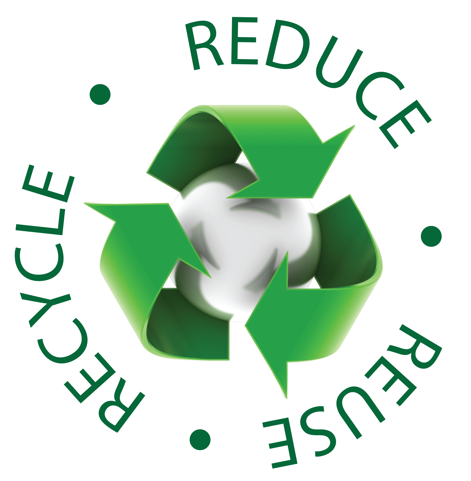 Reduce reuse recycle png. Clipart earth recycling
