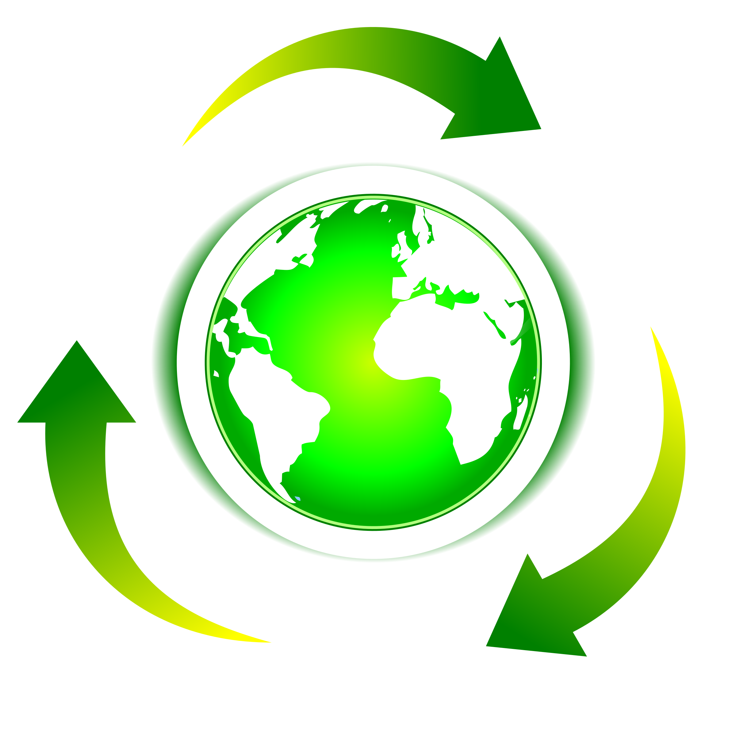 Clipart earth recycling. Ecology recycle big image