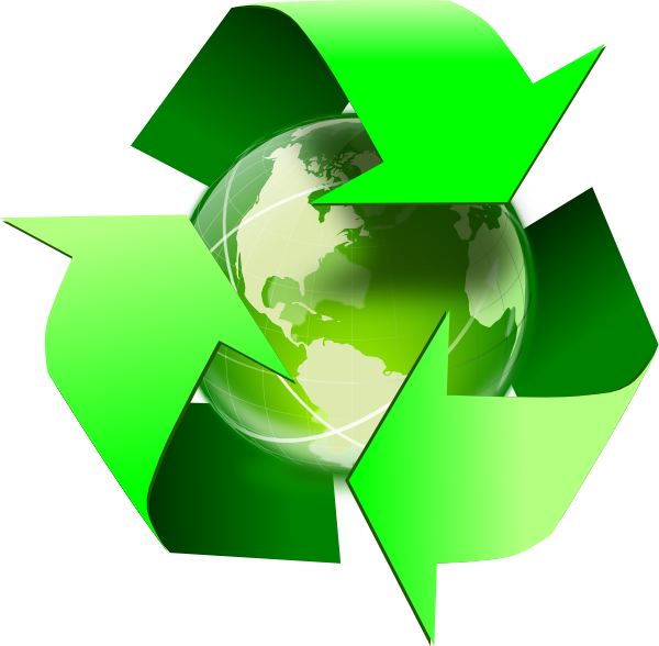 Recycle symbol with clip. Clipart earth recycling