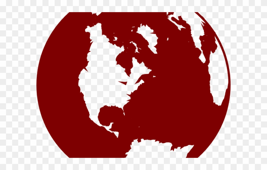 Globe clipart red. Earth black and white