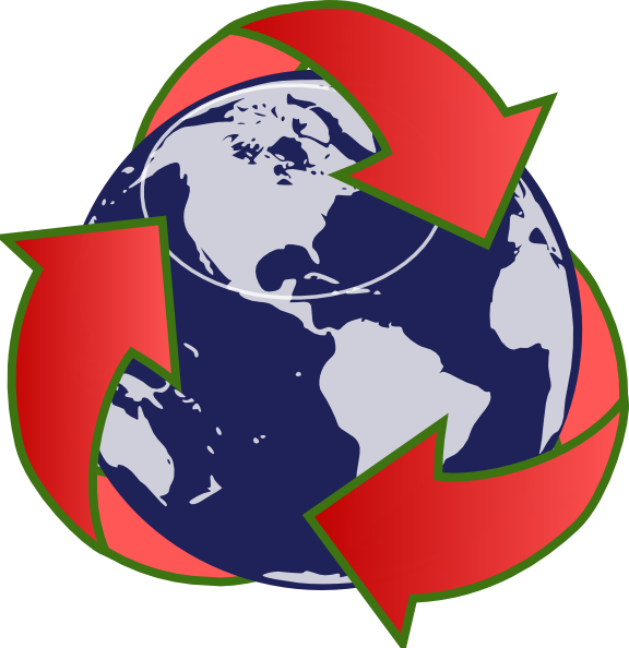 Recycling clip art at. Globe clipart red
