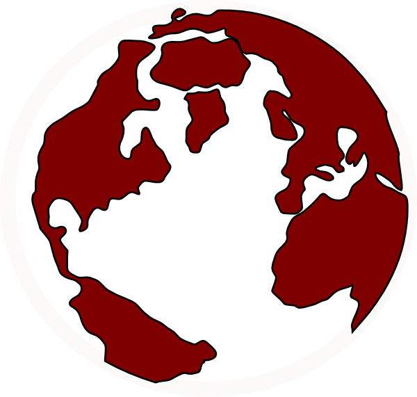 Earth clip art at. Globe clipart red