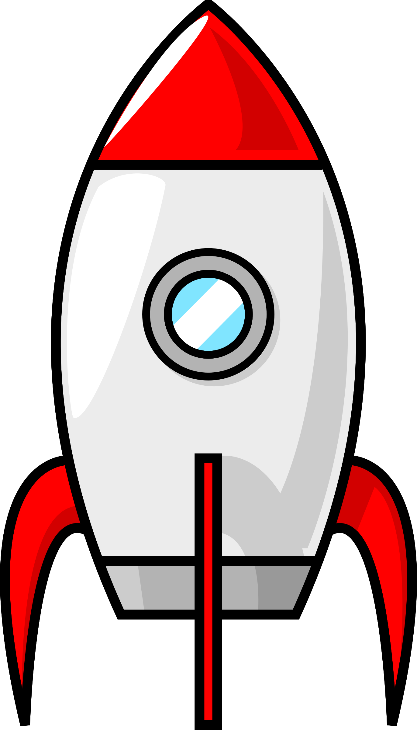 Planets clipart red moon. A cartoon rocket by
