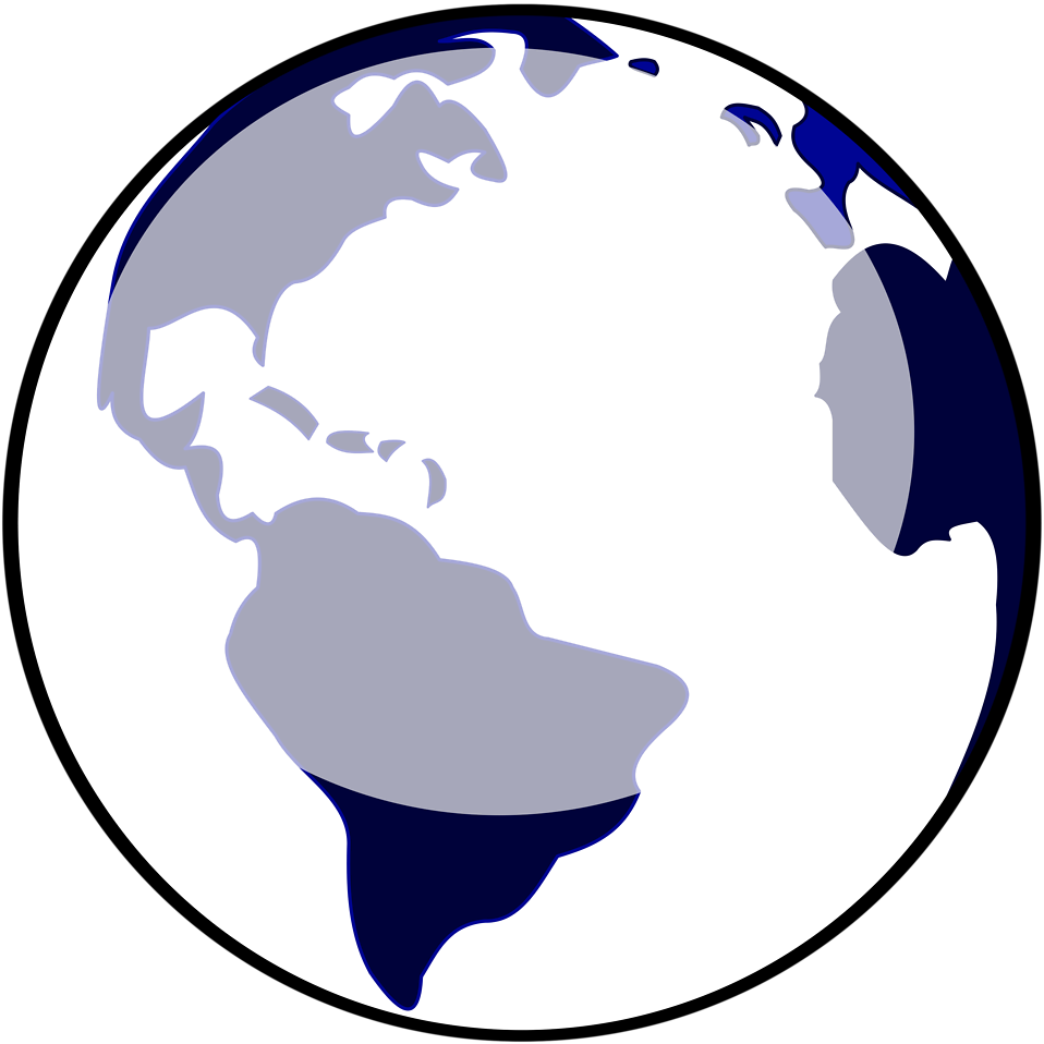 Globe clipart silhouette. World at getdrawings com