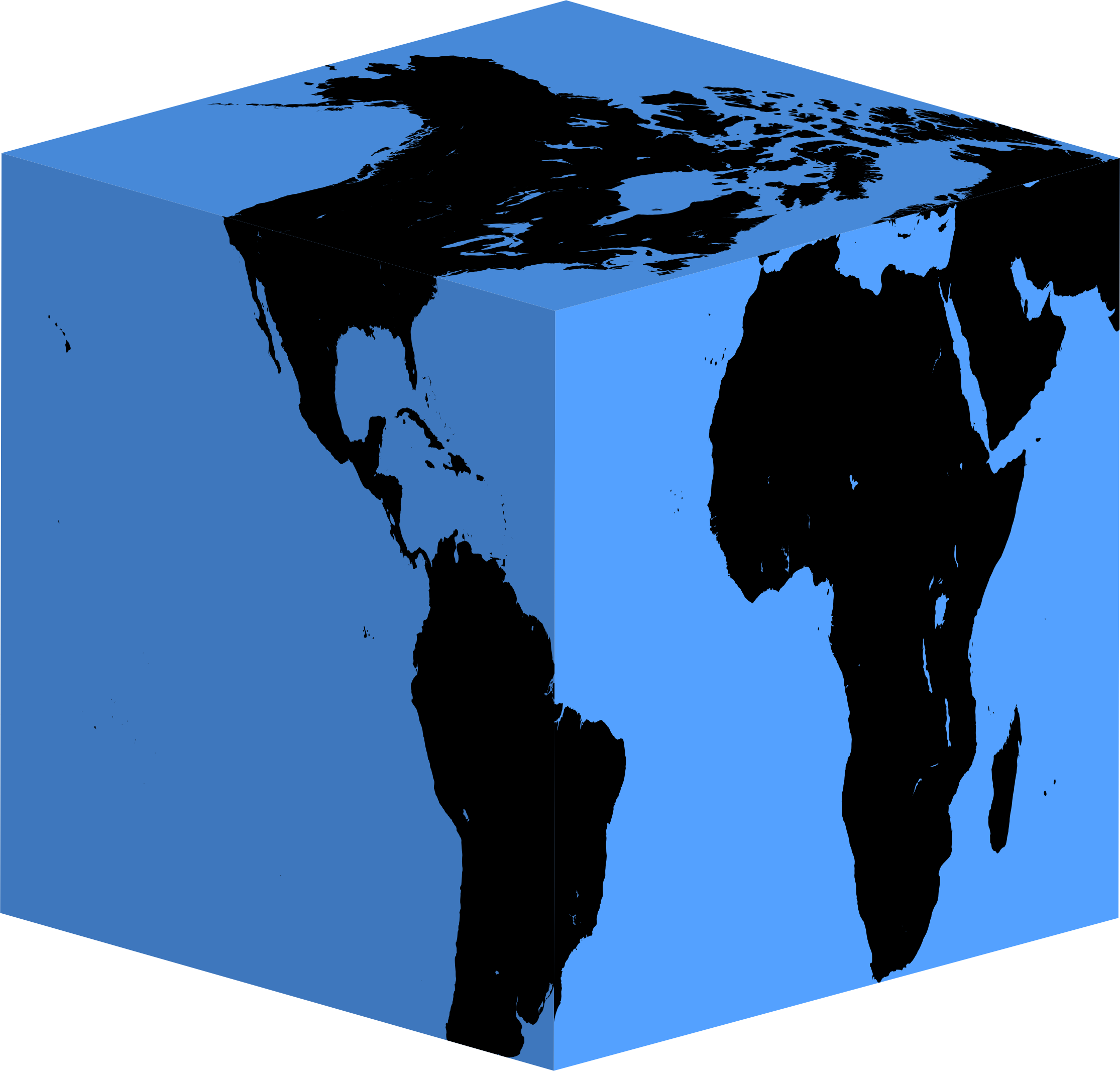 Cube earth big image. Planets clipart silhouette