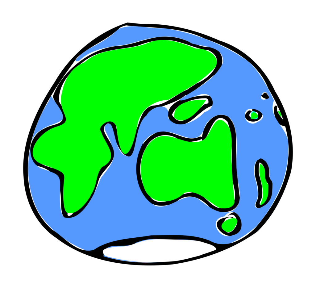 Quick sketch of typegoodies. Clipart earth thinking