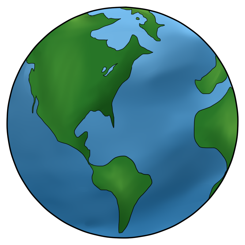 Earth science top x. Planets clipart painting