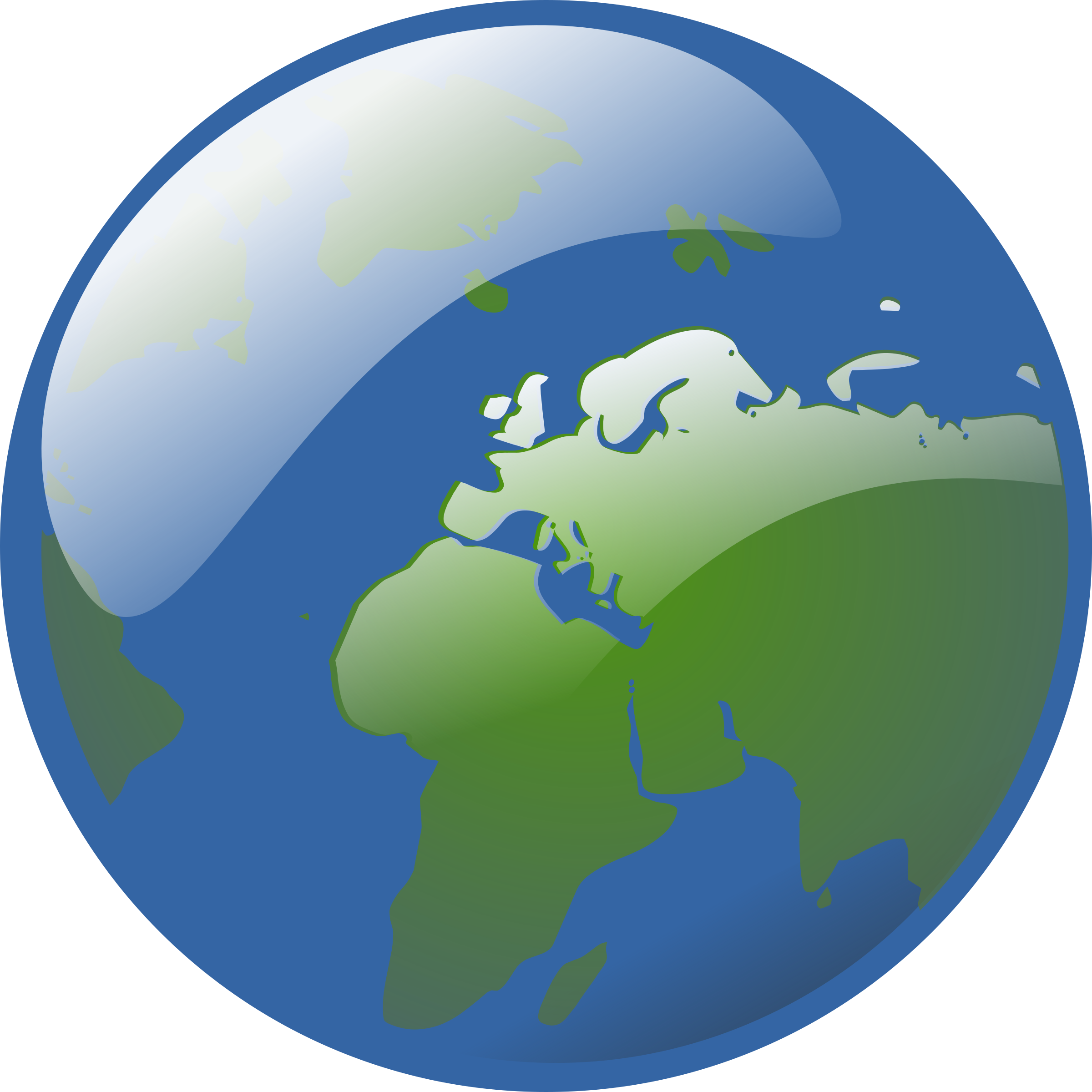 Earth globe big image. Planets clipart animation