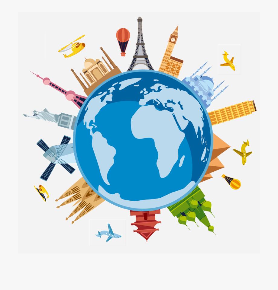 World traveler cliparts . Clipart earth travel