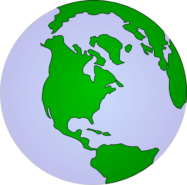 Clipart earth vector. Pale continents clip art