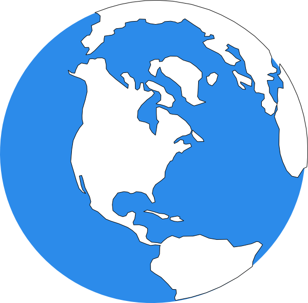 Blue icon clip art. Earth vector png