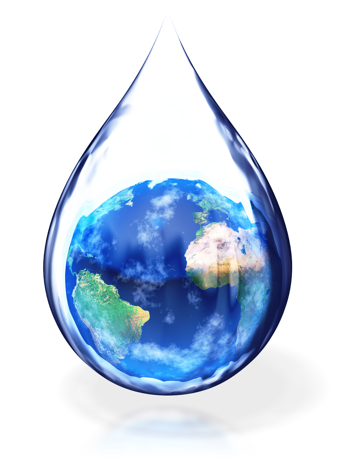 Standing for true medicine. Clipart earth water