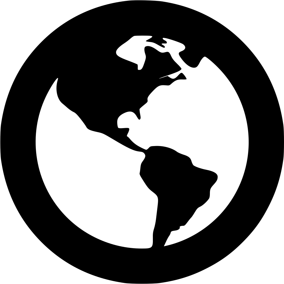 Browser web earth planet. Website clipart globe icon