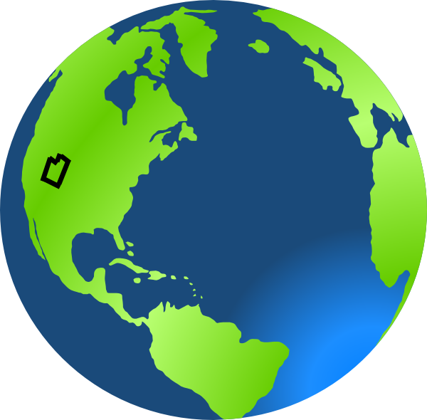 Earth utah clip art. Planet clipart paper