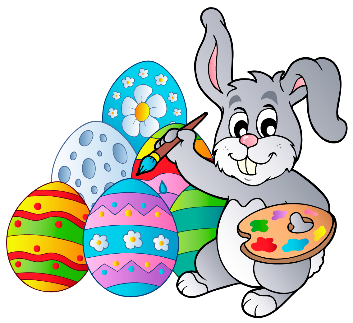 Clipart bunny christmas. Transparent easter with eggs