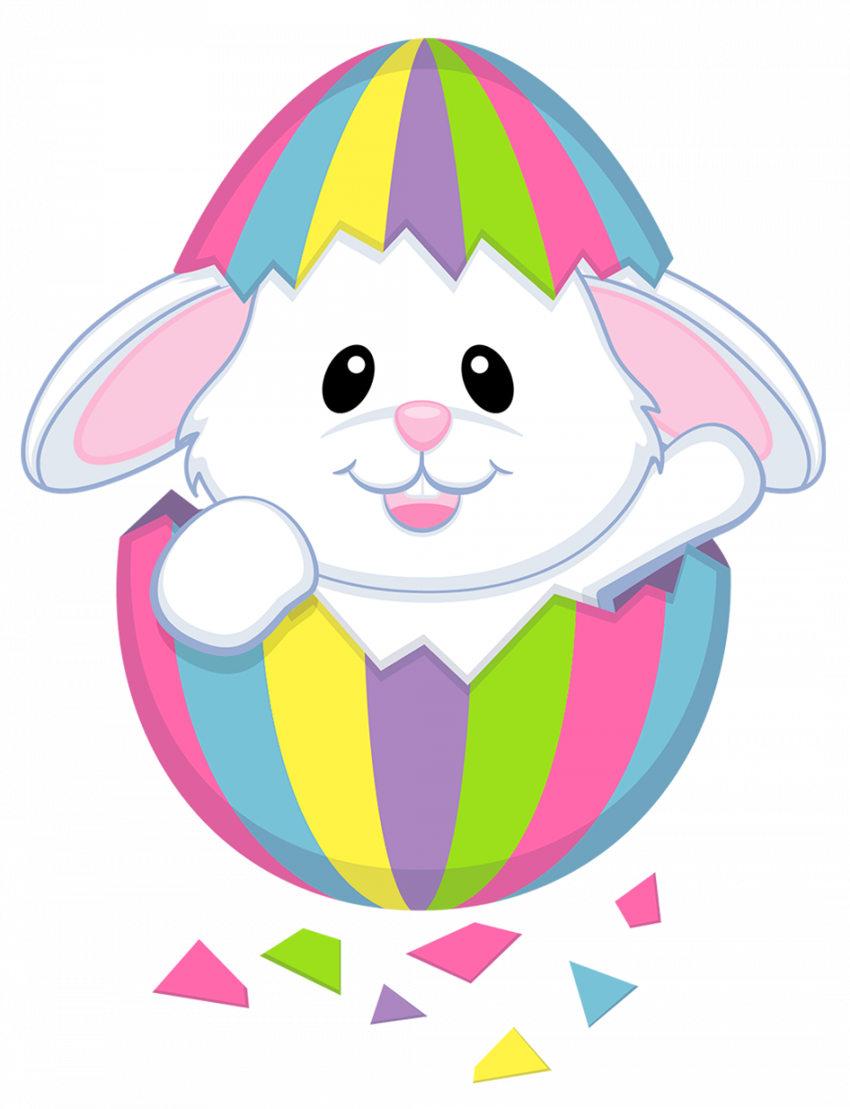 Animated group fabulous image. Moving clipart easter