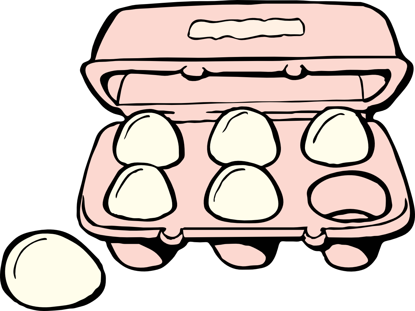 Black and white panda. Ham clipart egg carton