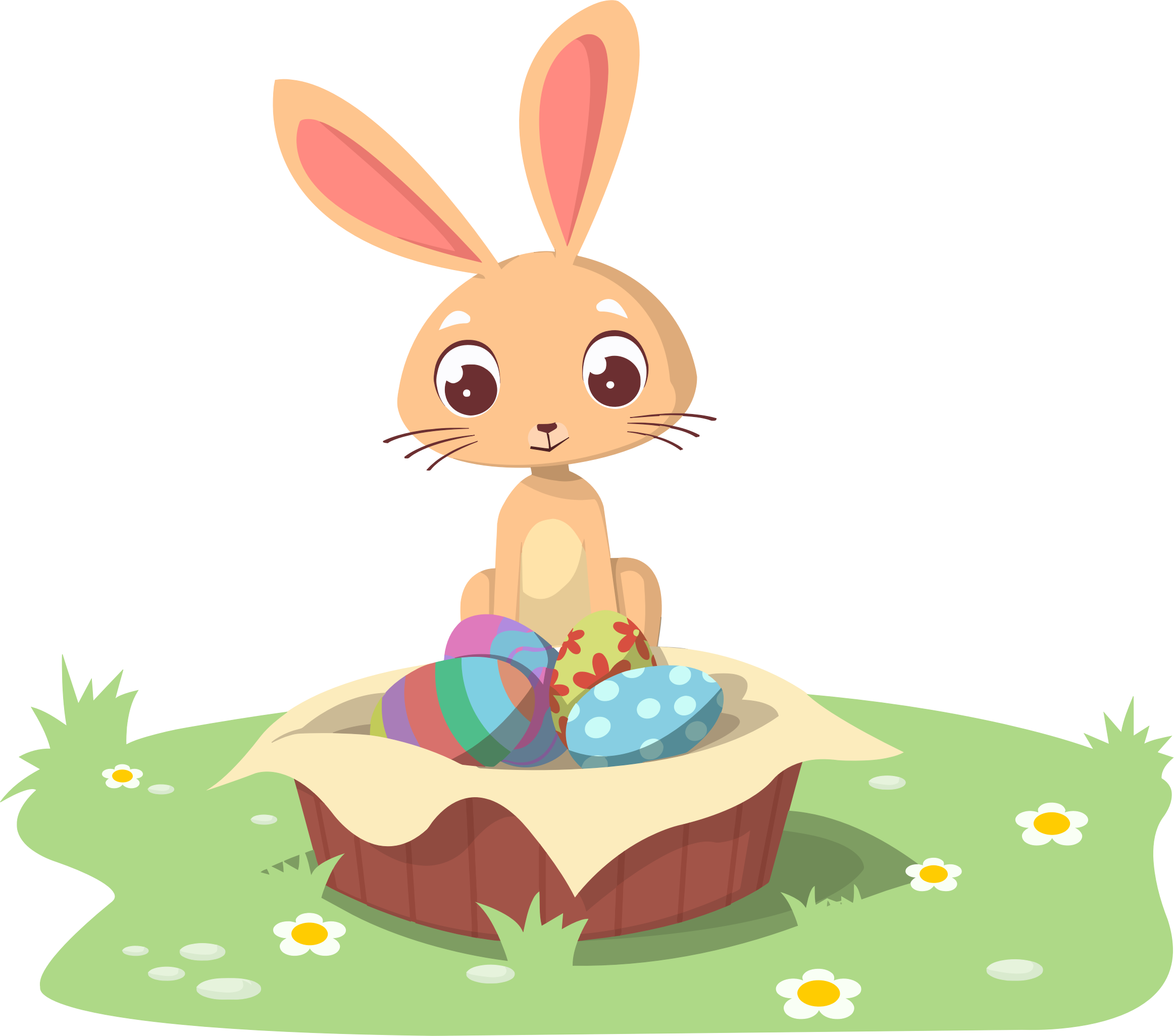 Illustration big image png. Cool clipart easter bunny