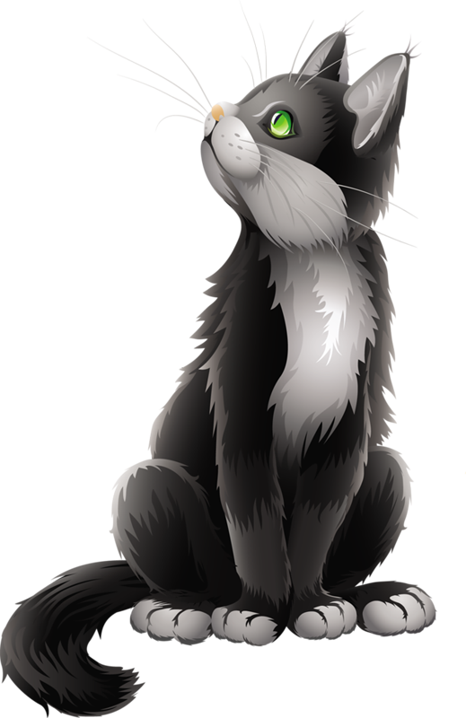 Cartoon black gallery yopriceville. Hand clipart cat