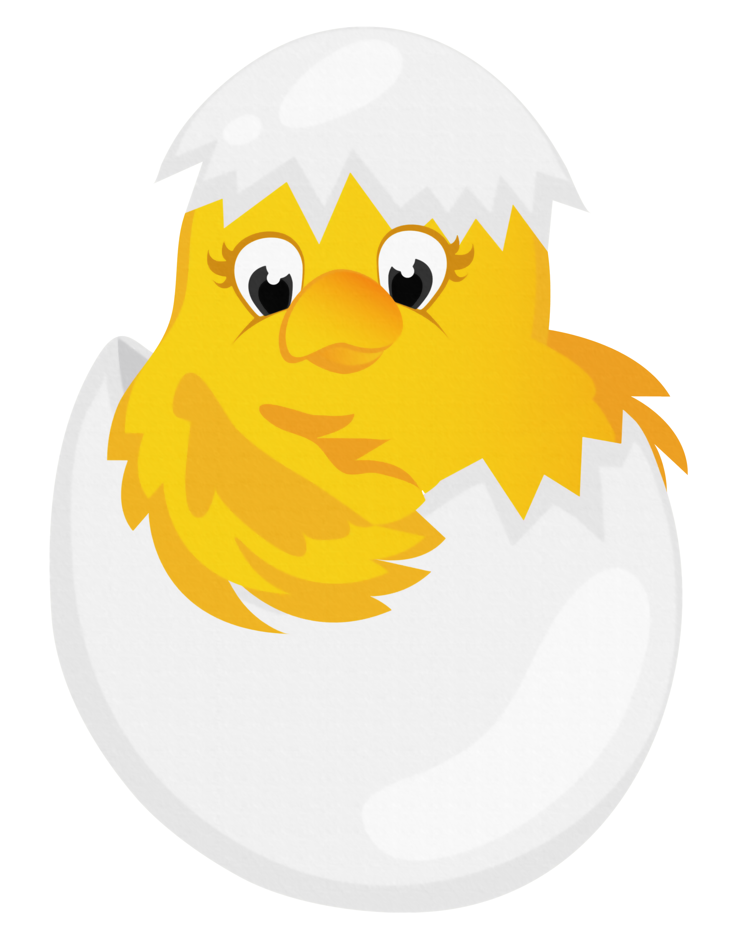 Clipart easter character. Chicken in egg transparent