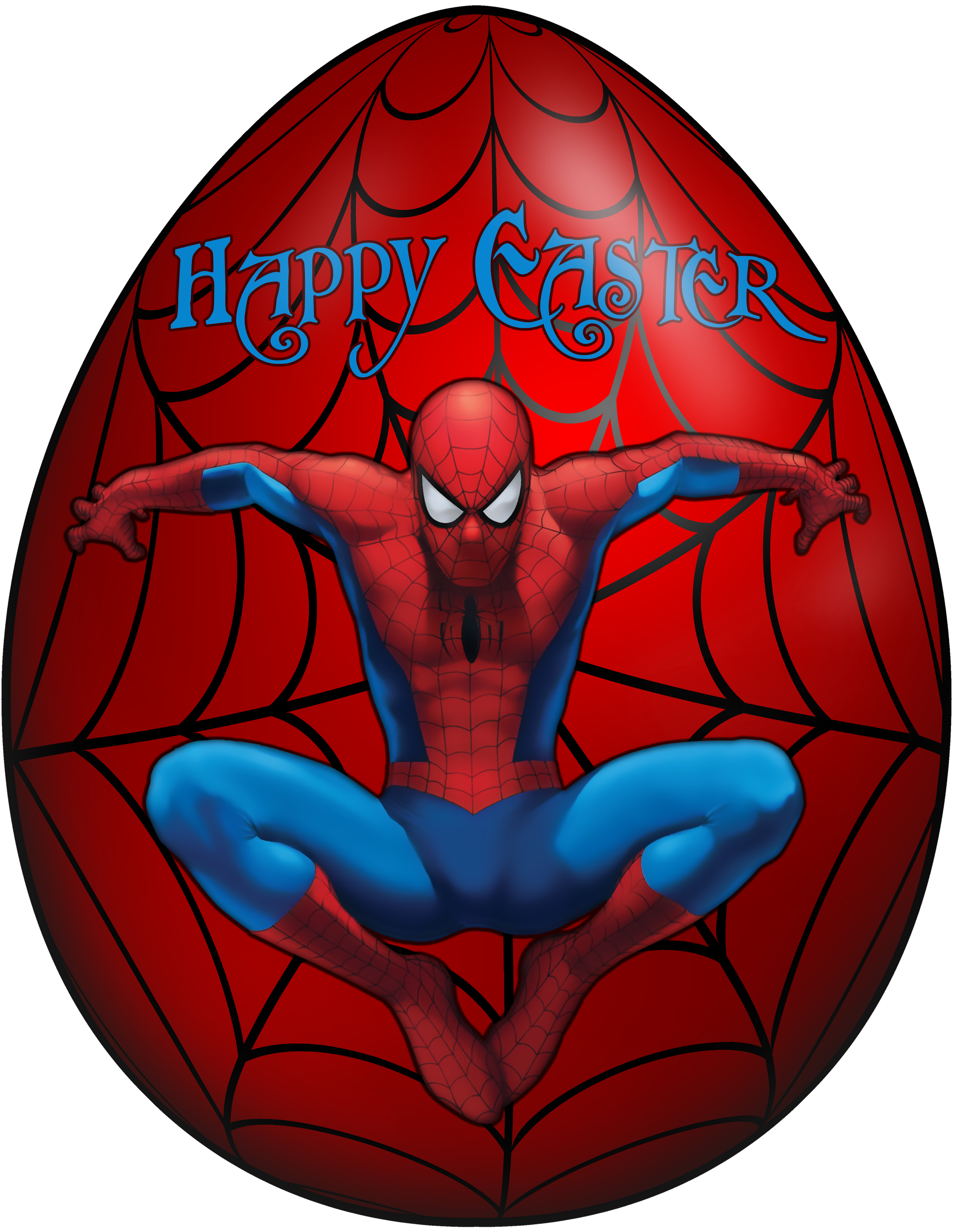 Kids egg spiderman png. Clipart easter character