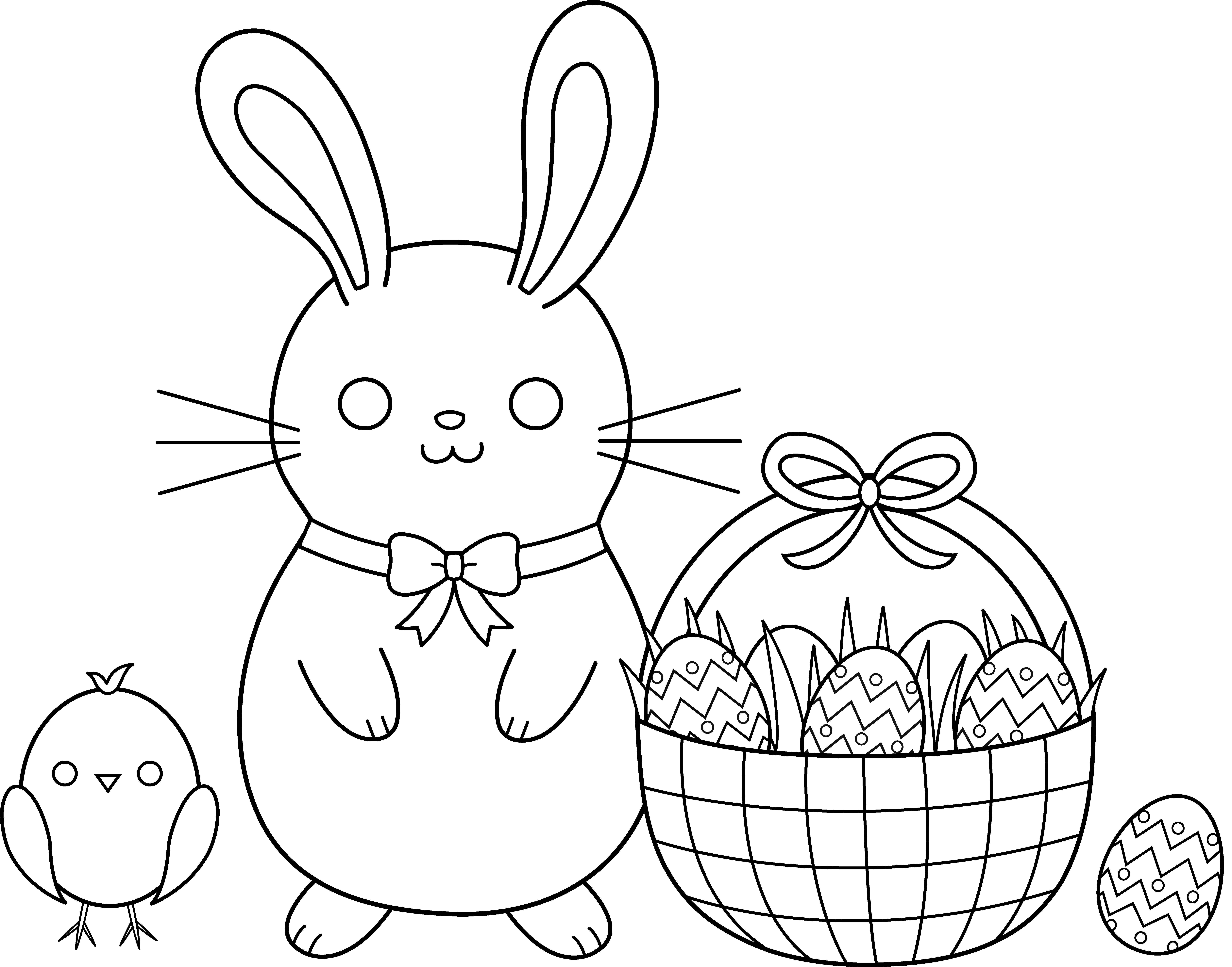 Cute easter free clip. Clipart rabbit coloring page