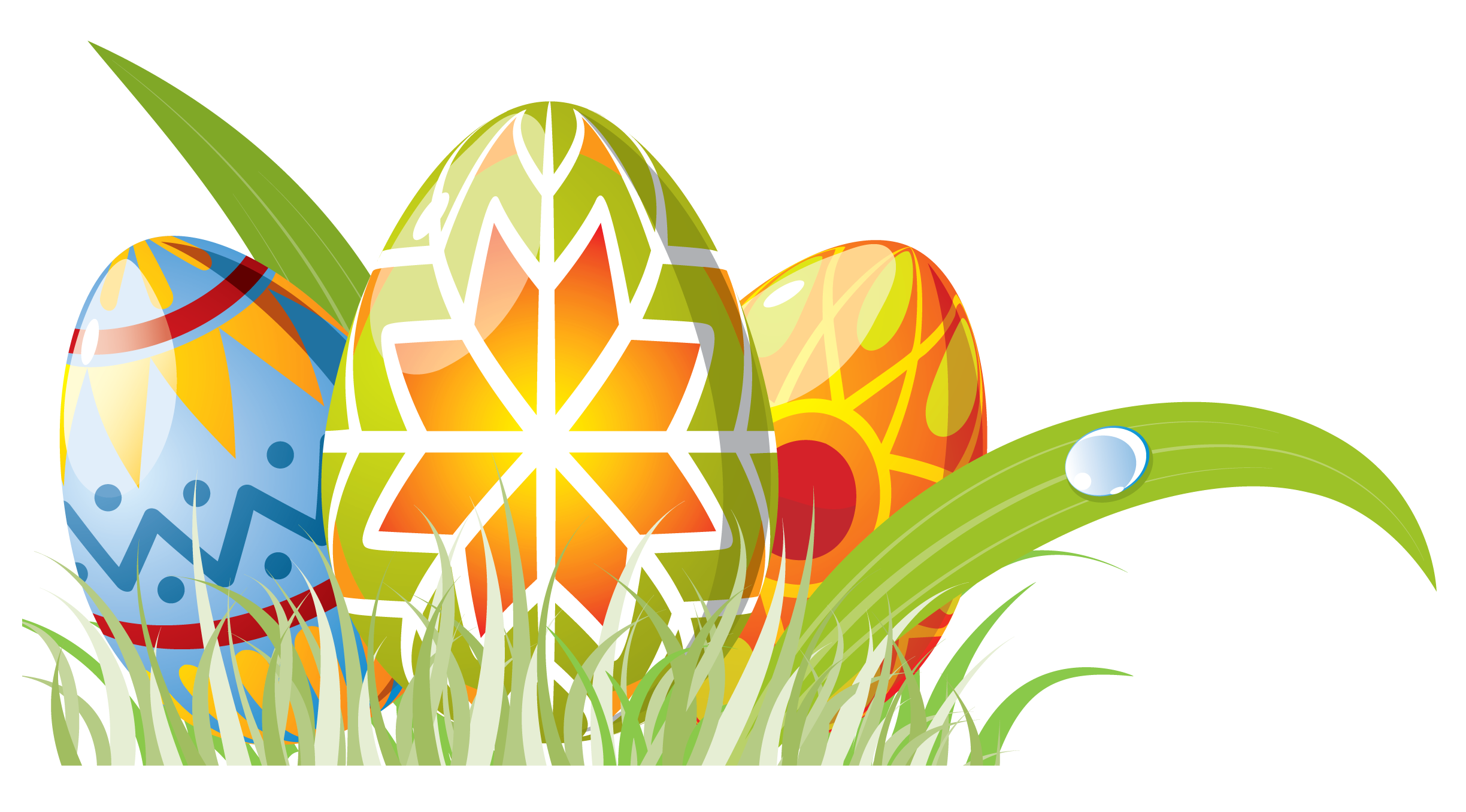 Clipart easter decoration. Eggs with grass png