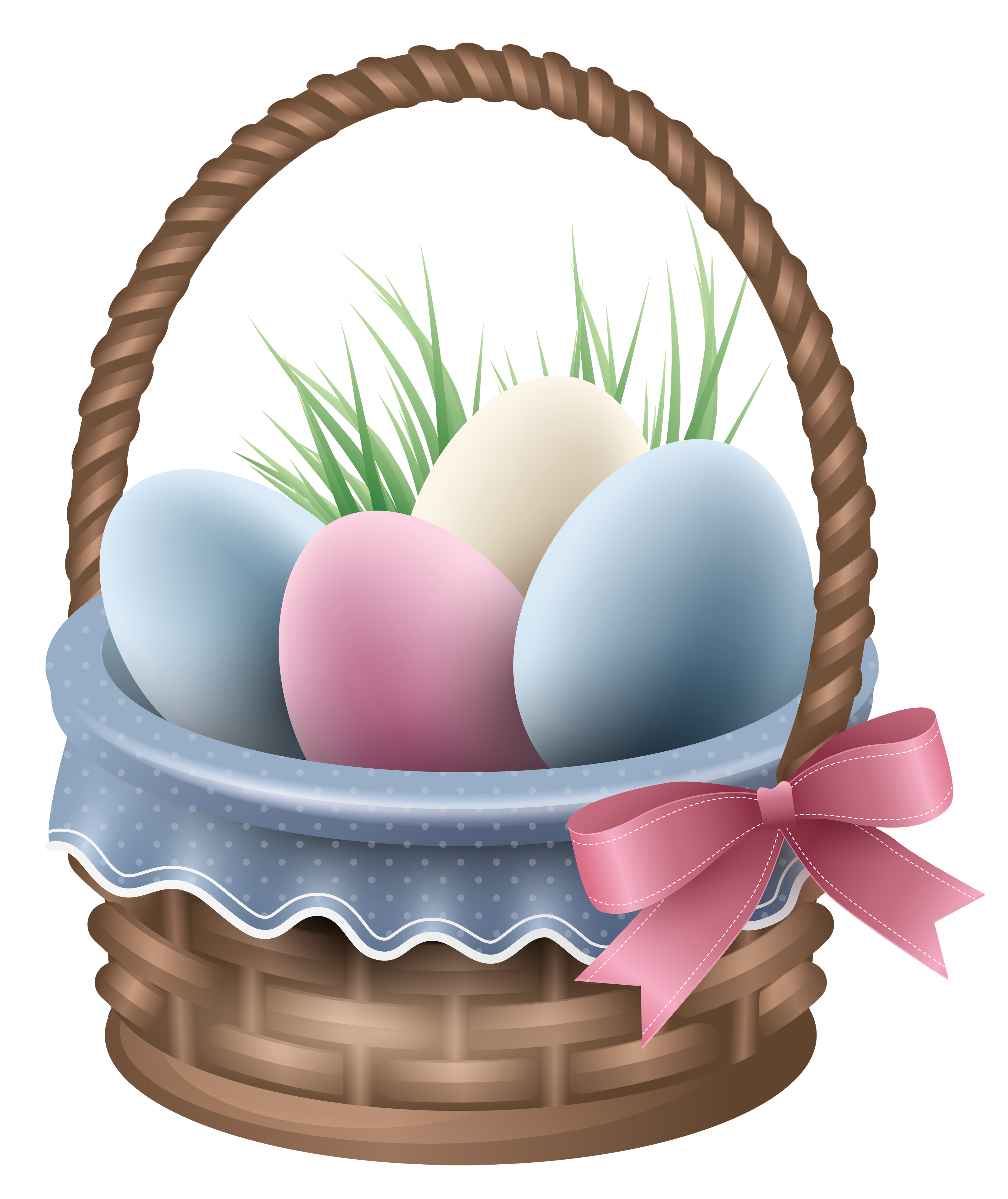 Transparent easter and grass. Movies clipart basket