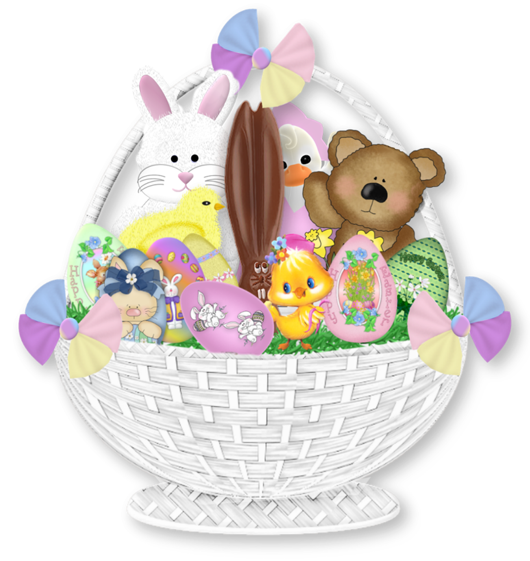 Gift clipart full basket. Easter png picture gallery