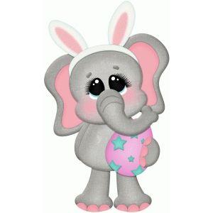Holding egg toddler art. Clipart elephant easter