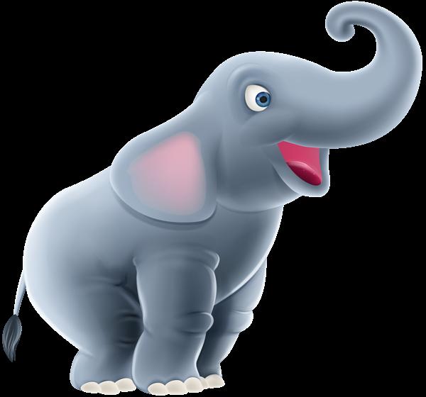 Cute cartoon clip art. Clipart png elephant