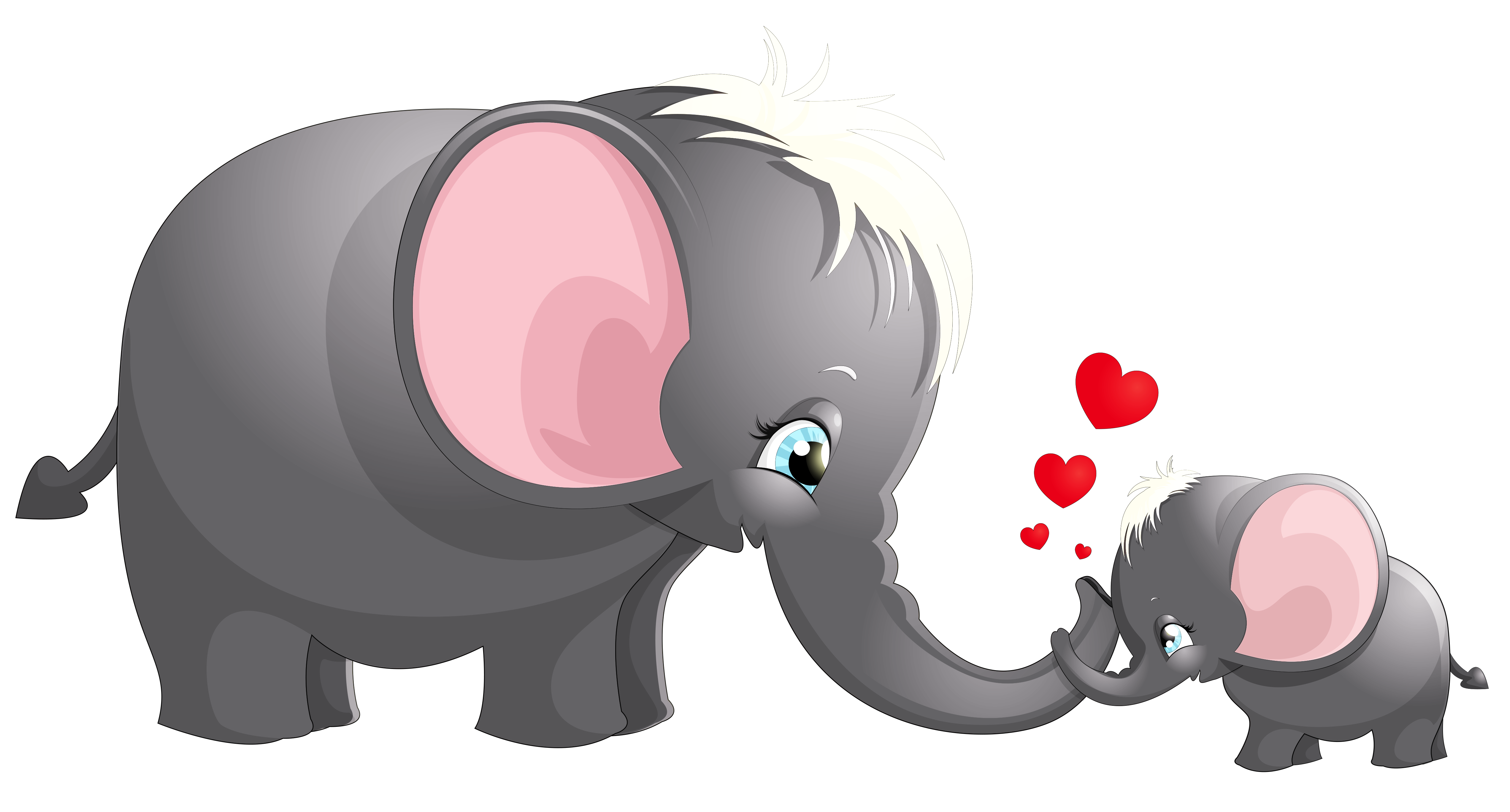 Elephants clipart dog. Transparent cute mom and