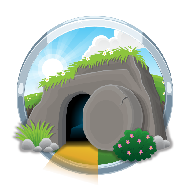 clipart easter empty tomb