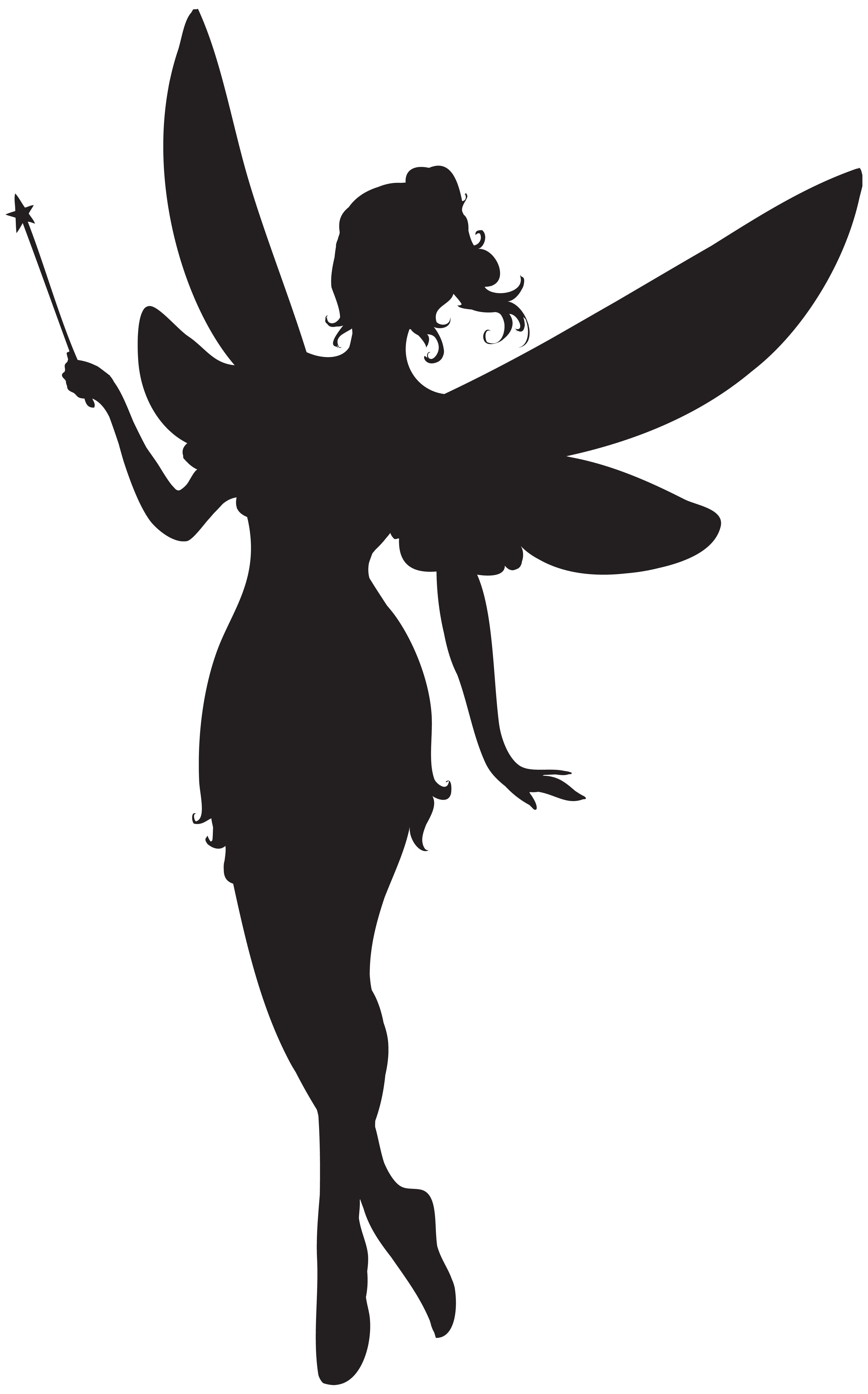 Free clipart fairy. With magic wand silhouette