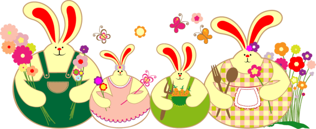 Clipart easter family. Free bunny cliparts download