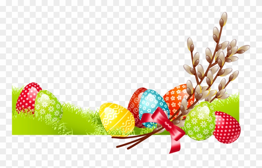 Tree with egg for. Clipart easter family