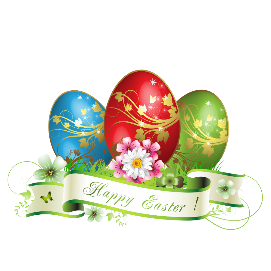 Happy eggs decoration crafting. Clipart easter festival