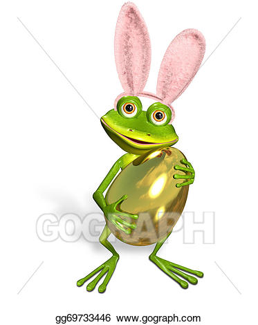Frogs clipart easter. Drawing frog gg gograph