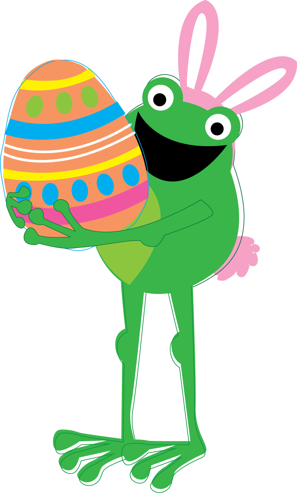Frog clipart easter. Free download clip art