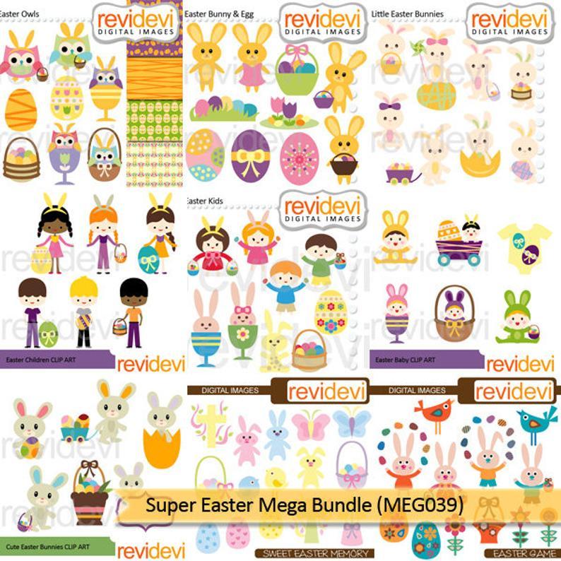Bundle sale kids bunny. Clipart easter game