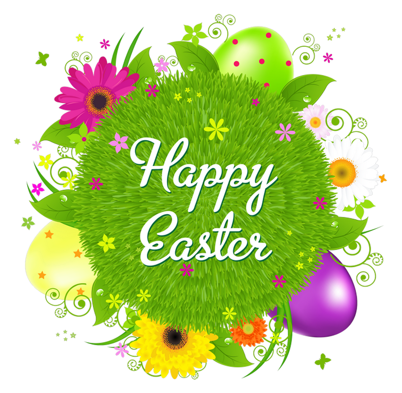 Happy easter transparent decor. Nails clipart good friday