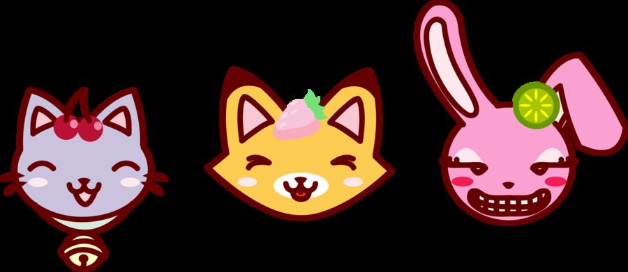 Cat rabbit bunny clip. Clipart easter kitten