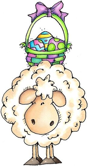 The lamb spring illustrations. Sheep clipart easter