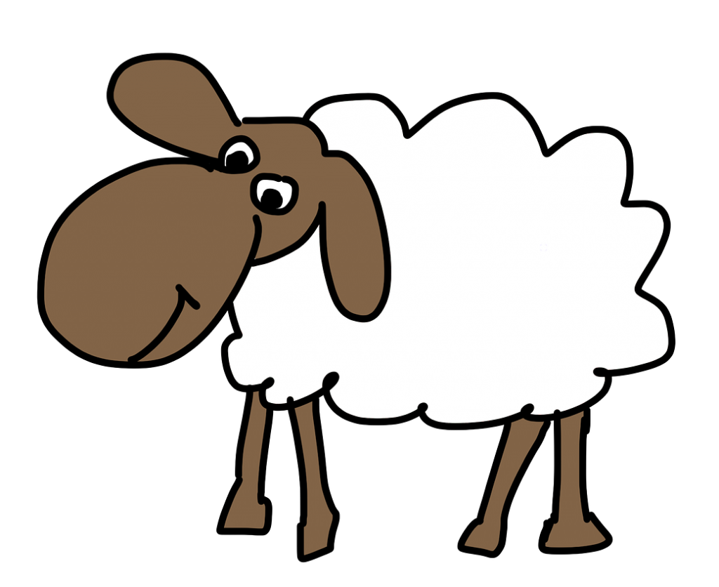 Free sheep page of. Lamb clipart easter